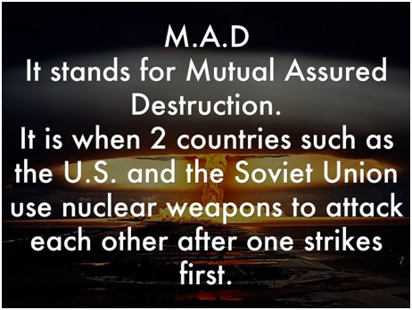 Image result for mutually assured destruction cold war