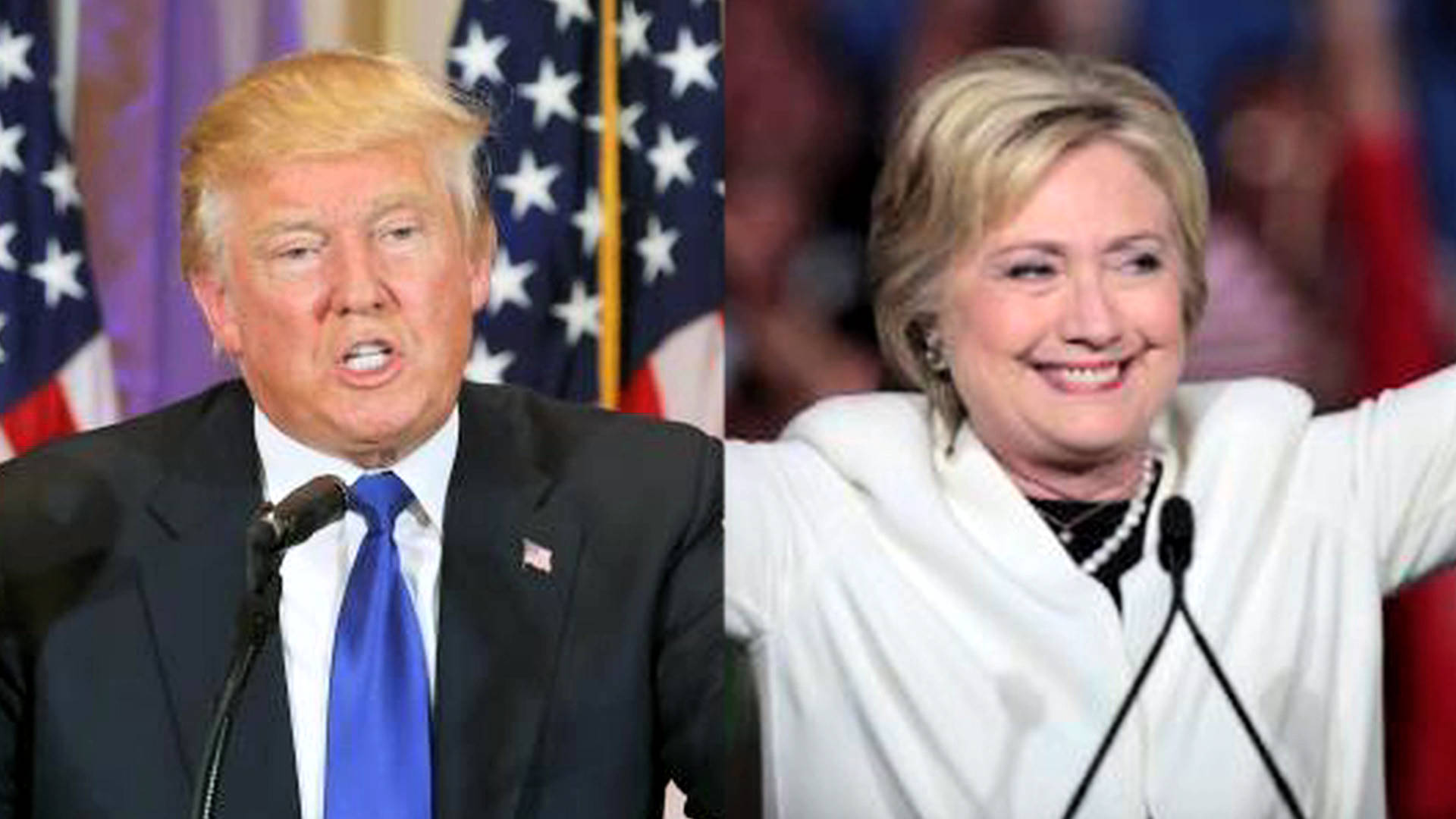 Image result for pics of trump and clinton