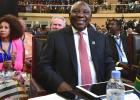 South African President Cyril Ramaphosa and Foreign Minister Lindiwe Sisulu at AfCFTA in Kigali, Rwanda on 20-21 March  2018