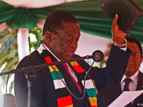 President Emmerson Mnangagwa at his inauguration