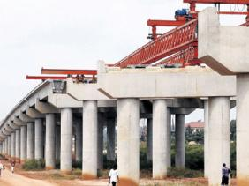 Past construction works on the Kampala-Entebbe, Uganda