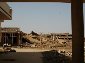 Rubble of the El-Shifa factory