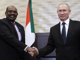 Sudanese and Russian presidents