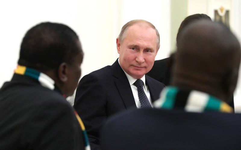 Presidents Putin and Mnangagwa