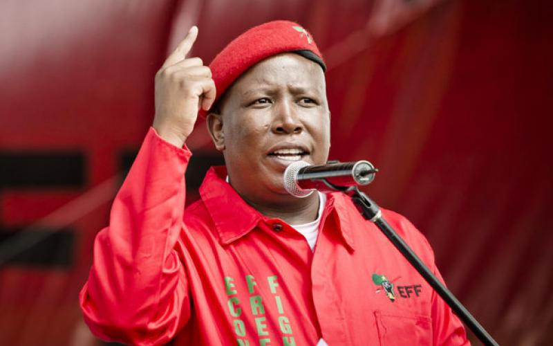 Julius Malema, leader of the EFF
