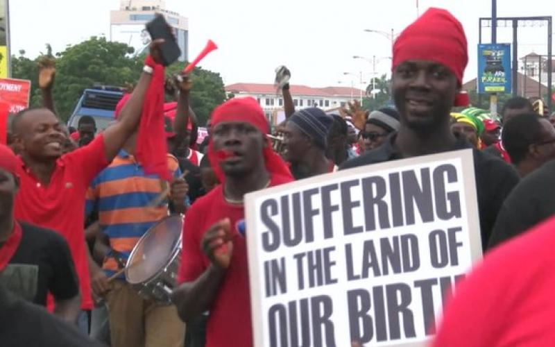 Youth demonstrations in Ghana