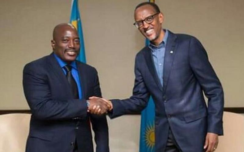 Presidents Joseph Kabila and Paul Kagame