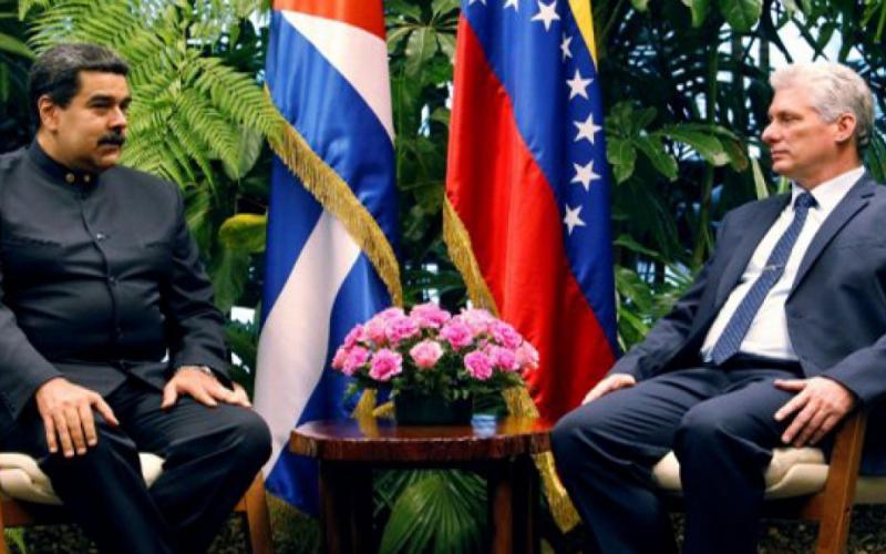 Presidents Nicolas Maduro of Venezuela and Miguel Díaz-Canel of Cuba
