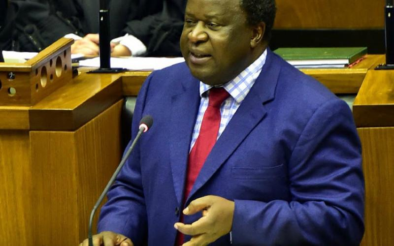 Finance Minister Tito Mboweni in 2019