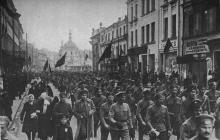 A demonstration during the 1917 Russia Revolution