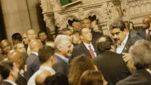 Cuba and Venezuela Presidents Miguel Diaz-Canal Bermudez and Nicolas Maduro Moros at Riverside Church in New York City on 26 September 2018