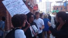 Detroit Demonstration at Wayne County Treasurer on 5 Sept. 2017