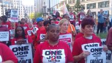 Detroit Unite Here on Strike at the Westin Book Cadillac Hotel