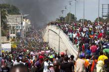 Haitian masses demonstrate against austerity and imperialist domination on 7 Feb. 2019