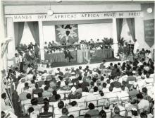 Kwame Nkrumah at the All African People's Conference, Dec. 1958