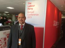Limam Mohamed Ali from Polisario at Labour Annual Conference in 2015