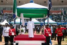 Sierra Leone's President Julius Maada Bio