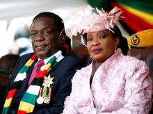 President Emmerson Mnangagwa and First Lady at his inauguration