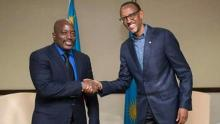 Presidents Joseph Kabila and Paul Kagame