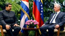 Presidents Nicolas Maduro of Venezuela and Miguel Díaz-Canel of Cuba
