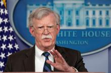 Bolton announcing the Prosper Africa strategy